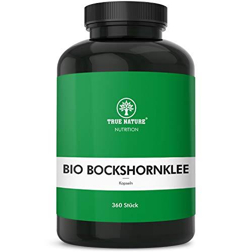 TRUE NATURE® Bio Bockshornklee Kapseln - 360 Stück mit je 500mg - EINFÜHRUNG - Hochdosiert mit 3.000mg - Mehrfach Laborzertifiziert & Made in Germany