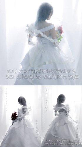 『【コスプレ】 ミカサ・アッカーマン ホワイトドレス コスプレ ドレス+ブーケ7点セット M 女性』の2枚目の画像