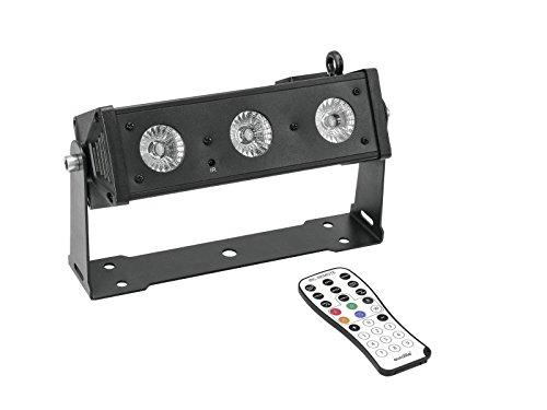 Eurolite LED BAR-3 HCL Leiste | Kompakte (26 cm) Bar mit 3 x 12-W-6in1-LED mit RGBAW&UV-Farbmischung | Stufenlose RGBAW+UV-Farbmischung, Farbwechsel, Farbüberblendung, Dimmer und Strobe-Effekt