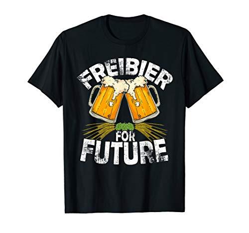 Freibier for Future Lustiges Bierliebhaber Oktoberfest Bier T-Shirt