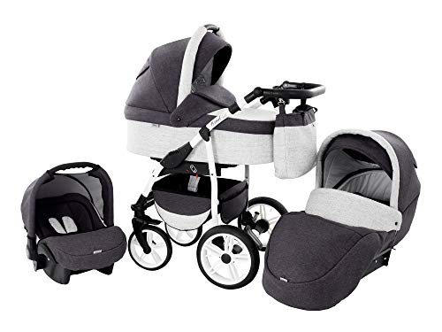 Baby Pram Zeo Wind 3in1 Set - Alles wat je nodig hebt! carrycot Gondola Buggy Sport Part Autostoel 46