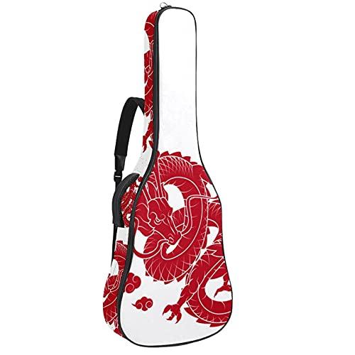 Bolsa para Guitarra Dragón rojo chino Funda para Guitarra Acústica Clásica y...