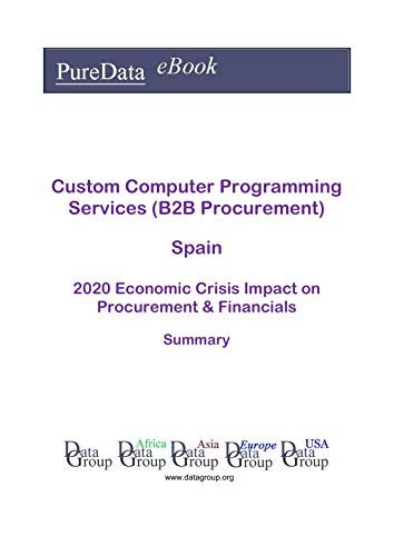 Custom Computer Programming Services (B2B Procurement) Spain Summary: 2020 Economic Crisis Impact on Revenues & Financials (English Edition)