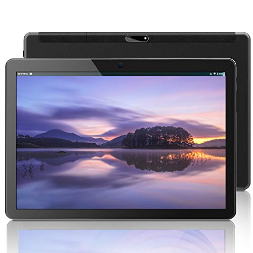 ANTEMPER 10 Inch Tablet Android 9.0 Pie,Portable Tablet with Octa-Core Processor,2GB RAM,32GB Storage,1920x1200 IPS Full HD Display Touchscreen,5MP+2MP Dual Cameras,WiFi,Bluetooth,GPS,FM[Black]