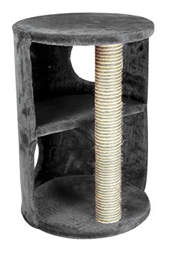 Cat&Rina Different Torre, Tiragraffi con 2 Livelli con Tronchetto, Per il Gatto, Dimensioni cm 45 x 42 x 58 h
