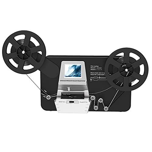 8mm & Super 8 Reels to Digital MovieMaker Film Sanner Converter, Pro Film Digitizer Machine with 2.4' LCD, Convert 5 inch and 8 inch 8mm Super 8 Film reels into 1080P Digital Videos (Renewed)