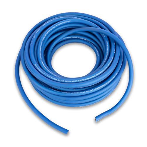 NVX XW4BL50 - Rollo de cable de alimentación y tierra (15,2 m), color azul