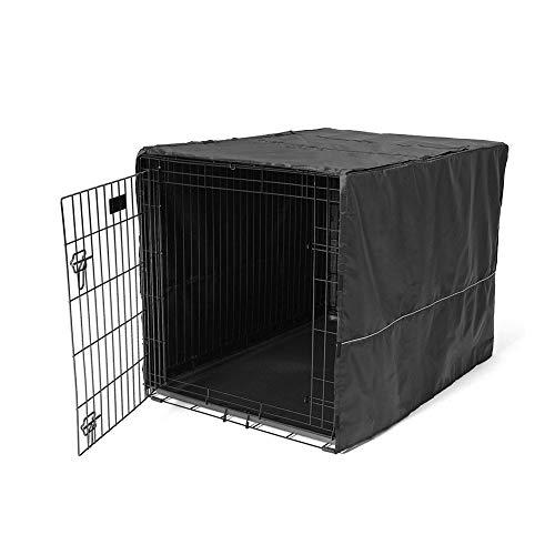 Pethiy Funda de poli/éster para Caja de Perro Cubierta para Jaula de Alambre para Interior y Exterior Resistente al Viento Solo Funda