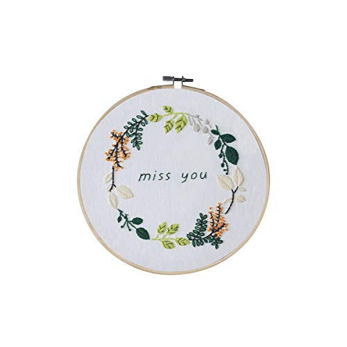 Adult Craft Kits| Hand-Stitched European Flowers Embroidery Kit DIY Ribbon Beginners with Embroidery Shed Sewing Kit Cross Stitch Home Decoration-S202-30 * 30cm