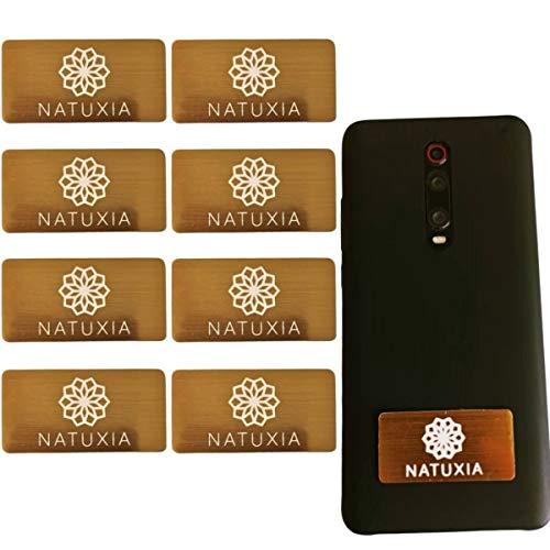 Natuxia Strahlenschutz Handy Aufkleber, Strahlung Abschirmung, Elektrosmog Neutralisierer für WLAN, Laptop, Handy (8 Pack)