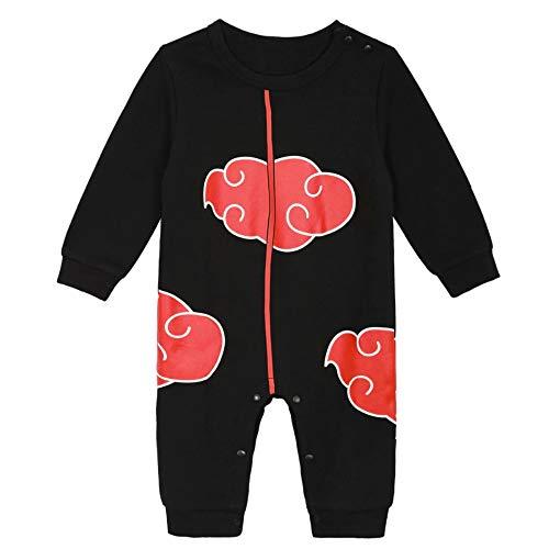 Body Manga Bébé | Pyjama déguisement garçon-Fille Anime Kawaii | Combinaison Cosplay 100% Coton (Akatsuki, 3-6 Mois)