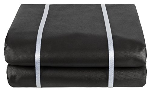 GardenMate 2m x 10m sheet non-woven weed control fabric - UV stabilised black 150gsm landscape ground cover membrane