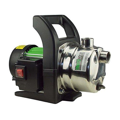 TRUTZHOLM® Edelstahl Gartenpumpen Wasserpumpe Pumpe Teichpumpe 1.000W 3.200 l/h 4,4 bar Förderhöhe 44m