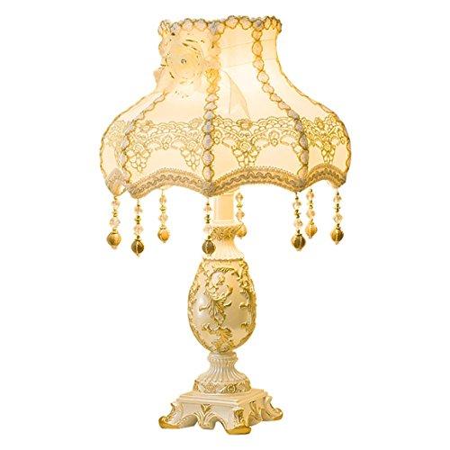 CCLLtyt Lampada da Comodino in Stile Europeo Lampada da Comodino per Camera da Letto Creativa Semplice e Calda Reading Lamp