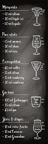 Plage Cocktail Adesivo per la Cucina, Vinile, Nero, 60 x 180 cm