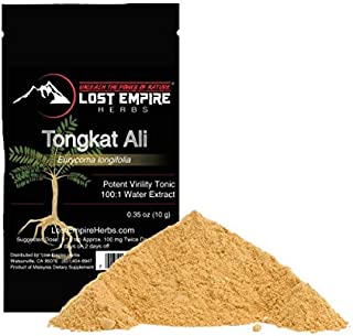Tongkat Ali 100:1 Extract (10 Grams) High Potency - Ultimate Endurance, Drive & Strength Booster – Eurycoma Longifolia, Lo...
