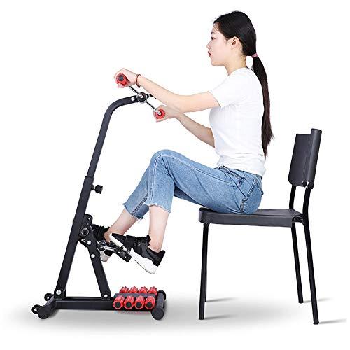 QIANGGAO Mini-Heimtrainer, Mittlere Rehabilitationsgeräte für ältere Menschen, Hand- und Fußtrainingsgerät, obere und untere Gliedmaßen, Heimtrainer, Pedal-Trainingsgerät für die Beine