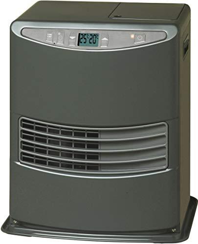Toyoset Lc-3010 Stufa a Combustibile Elettronica, portatile, 3000 W, grigio, da 19m2 - 48m2, senza installazione, termostato regolazione giornaliera, Classe di efficienza Energetica A (Ricondizionato)