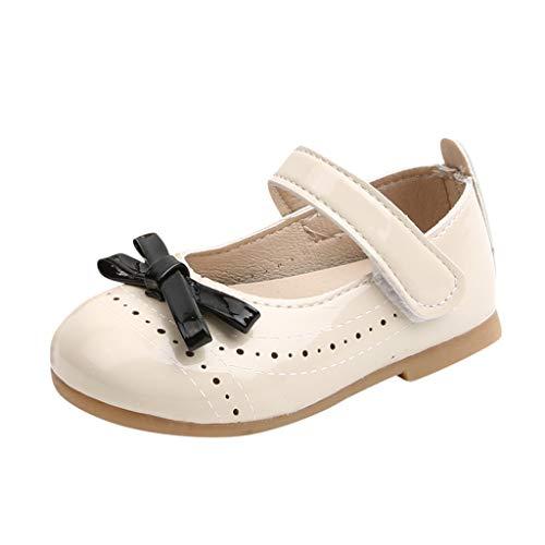 Kleinkind Schuhe Kinderschuhe Mädchen Einzelne Schuhe Ballerinas Schuhe Prinzessin Sandalen Bowknot Freizeitschuhe Lauflernschuhe Weiche Sohle Lederschuhe Krabbelschuhe