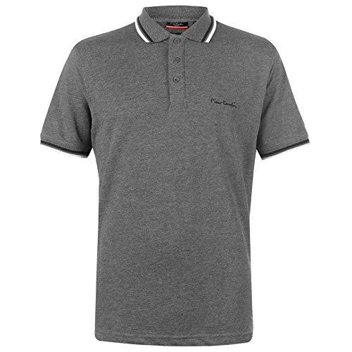 Pierre Cardin Herren-Poloshirt mit Kipp-Kragen, kurzärmeliges Shirt, Oberteil Gr. 56, Charcoal Marl