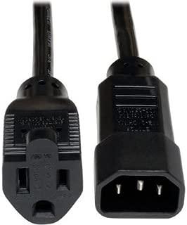 Tripp Lite Standard Computer Power Cord 10A, 18AWG (IEC-320-C14 to NEMA 5-15R) 1-ft.(P002-001-10A)