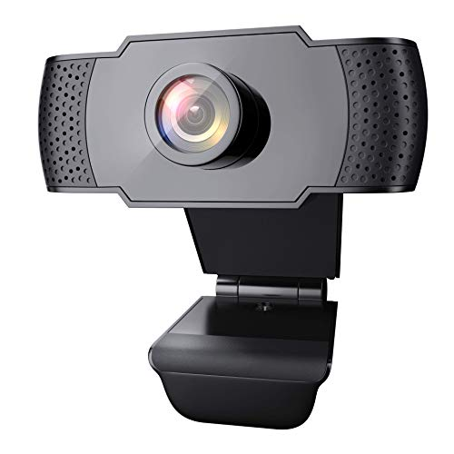 1080P Webcam with Microphone, Wansview USB 2.0 Desktop Laptop Computer Web Camera with Auto Light Correction, Plug and Play, for Windows Mac OS, for Video Streaming, Conference, Gaming, Online Classes