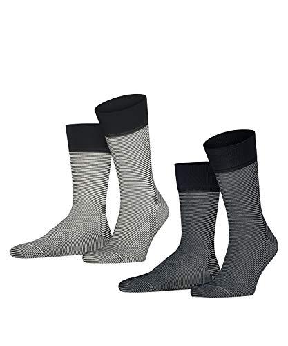 ESPRIT Herren Allover Stripe 2-Pack M SO Socken, Mehrfarbig (Sortiment 50), 43-46 (2er Pack)