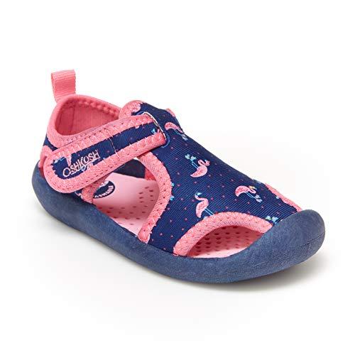 OshKosh B'Gosh Girls' Aquatic Water Shoe, Navy/Fuchsia, 8 M US Toddler