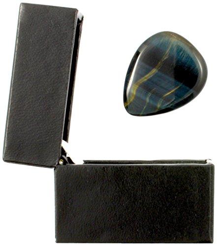 Tiger Tones TIGTBTGB1 Tiger Eye Gitarren-Plektrum in einer Geschenkbox blau