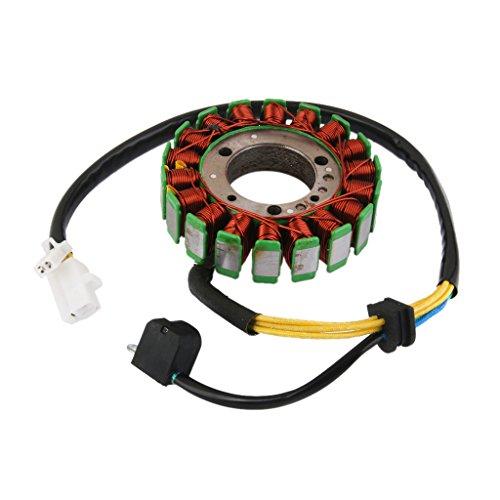 B Blesiya Magneto de Bobina de Estator de 18 Polos para Motores Trifásicos GY6-250 Refrigerados Por Líquido