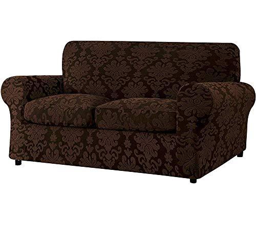 Funda para sofá con cojín independiente, protector de sofá de sala de estar de tela de damasco jacquard, elegante y duradera funda para muebles de tela elástica de spandex, buena opción para las fami