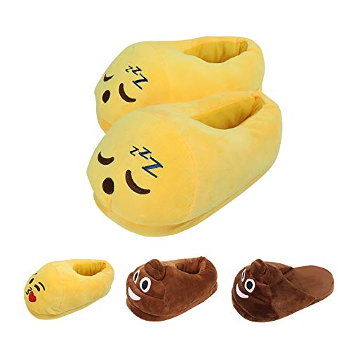 Lua House Slippers for Women Plush Fluffy Memory Foam Slippers Warm and Cozy Home Shoes for Indoor or Outdoor (Medium Yellow)