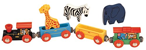 maxim enterprise, inc. Wooden Animal Train Set 7 Piece
