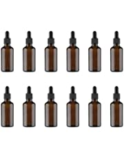 HEALLILY 12 Piezas Botellas de Aceite Esencial de 15 Ml Botellas de Gotero de Vidrio Ámbar Contenedor de Viaje Pequeñas Botellas de Maquillaje