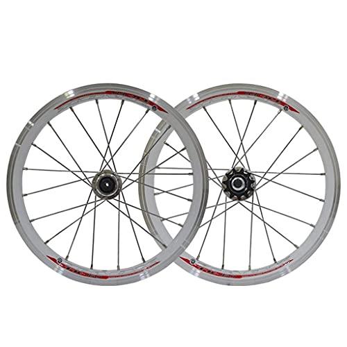 VTDOUQ Rueda de Ciclismo BMX Llantas de Rueda de Bicicleta de 16 Pulgadas Freno de llanta 559x20 con piñón 11T para niños/Bicicleta Plegable