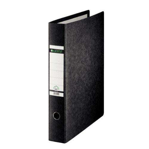 LEITZ Classeur à levier 180 degré Carton format A3 à la française D 77 mm Noir