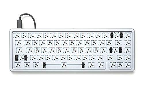 Drop ALT High-Profile Mechanical Keyboard — 65% (67 Key) Gaming Keyboard, Hot-Swap Switches, Programmable Macros, RGB LED Backlighting, USB-C, Doubleshot PBT, Aluminum Frame (Barebones, Gray)