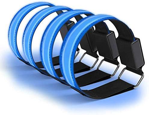 DEL Bracelet leuchtband reflektorband Jogging témoin clignotant Bande de sécurité Tchibo