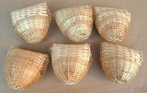 Finch Bird 100% quality warranty! Wholesale Bamboo Covered Nest of - Lot 6 Medium