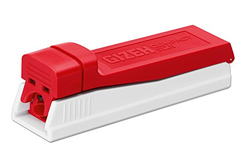 Gizeh Compact Size Zigarettenstopfer, Kunststoff, Weiß, 12 x 4 x 4 cm