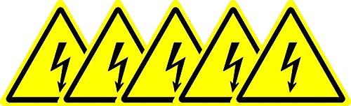 5 etiquetas adhesivas de la señal de seguridad internacional ISO de peligro...
