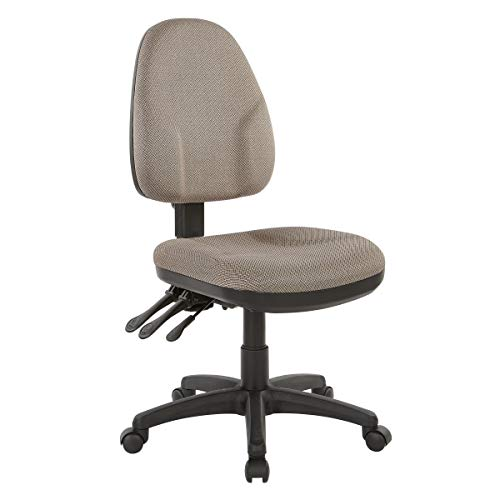 Office Star Ergonomic Dual Function Chair with Adjustable Back Height, Diamond Gold Dust Fabric, Mid