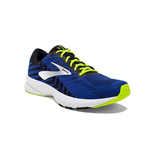 Brooks Mens Launch 6 Running Shoe - Blue/Black/Nightlife - D - 10.0