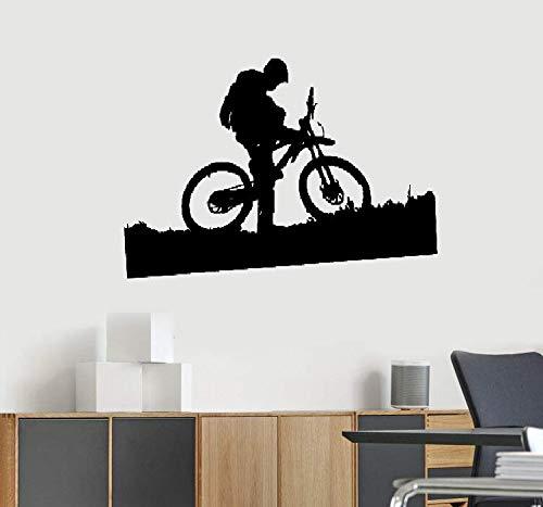 wandaufkleber 3d Wandtattoo Schlafzimmer MTB Fahrrad und der Fahrer niedlich Design Sport Zimmer Aufkleber Büro stilvoll
