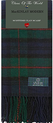 I Luv LTD MacKinlay Modern Tartan Clan Scarf 100% Soft Lambswool