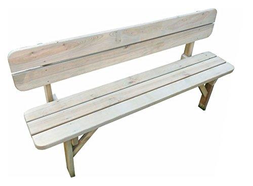 Platan Room Gartenbank aus Kiefernholz 120 cm / 150 cm / 180 cm breit Holzbank stabil rustikal Gartenmöbel Kiefer massiv Imprägniert (180 cm breit)