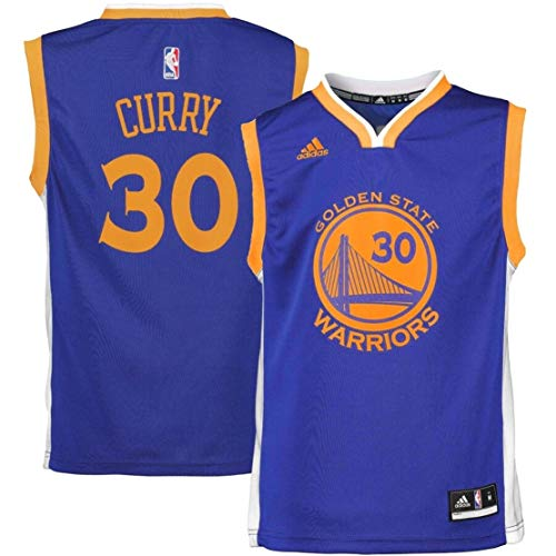 Adidas Stephen Curry Golden State Warriors #30 NBA Youth Road Jersey blu Blu X-Large