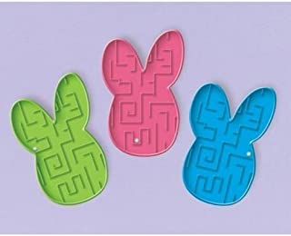 Easter Bunny Shaped Maze Puzzle Game Party Favours x 8