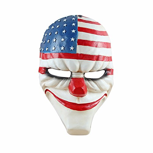 flowmash Halloween Mask, Payday 2 Theme Game Mask for Horror Cosplay Party, Fencing,...