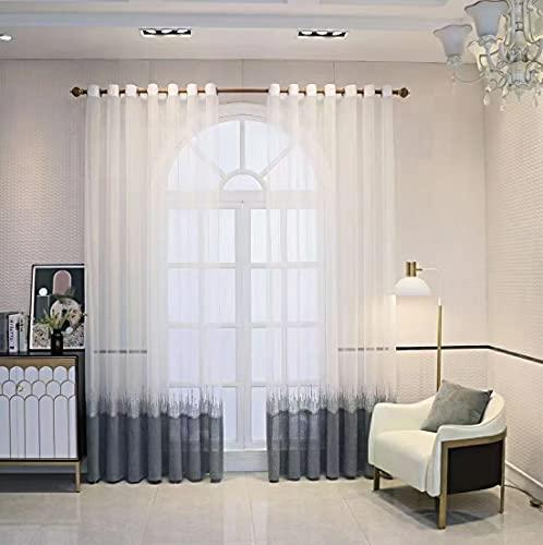 """Cortinas de Tul Grises, Cortinas Grises Oscuros para Dormitorio y Sala de Estar Color gradiente (Gray Gradient, 180X240CM 70""""X94"""")"""